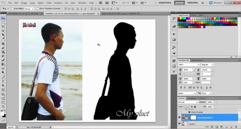 Cara Membuat Foto Siluet Wajah