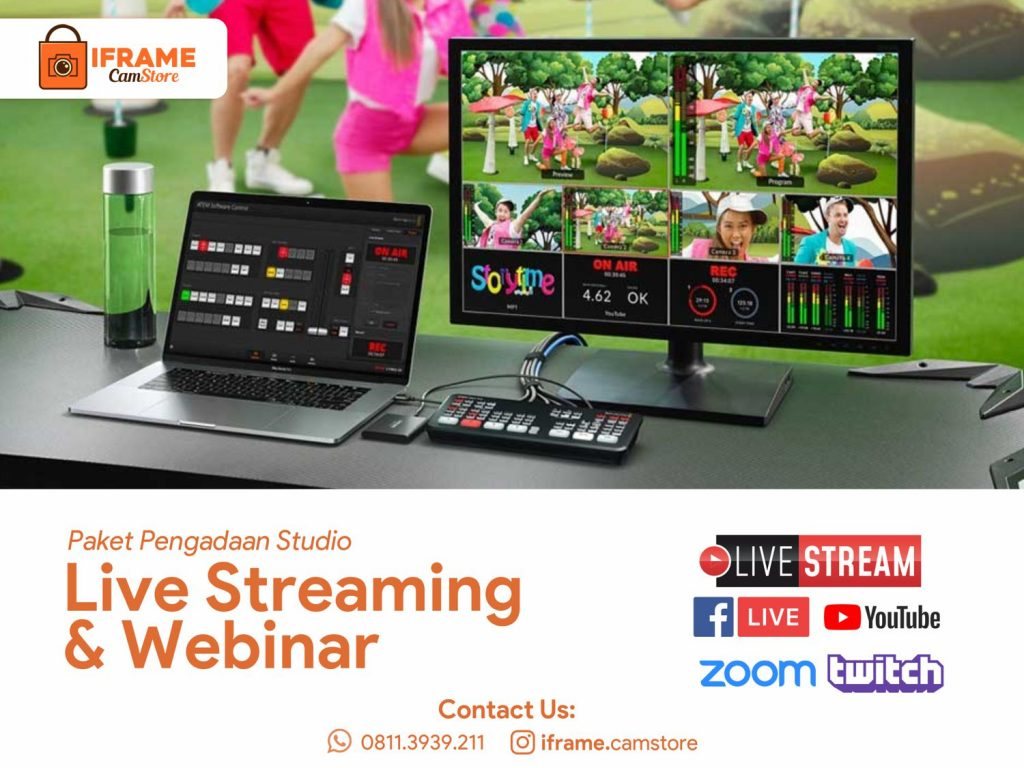 Paket Pengadaan Studio Live Streaming