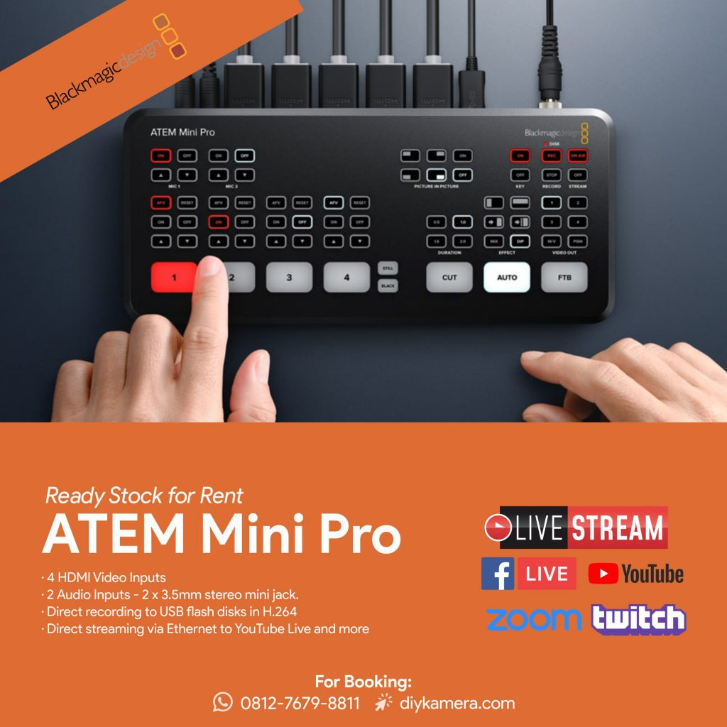 Sewa Switcher Atem Mini Pro