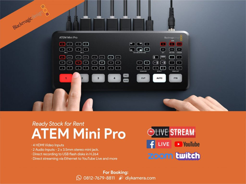 Sewa Switcher Atem Mini Pro Jogja